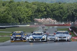 Randy Pobst, Volvo S6 James Sofronas, Audi R8 Johnny OConnell, Cadillac CTS-V.R