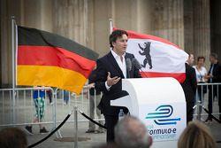 Alejandro Agag, CEO, Formula E Holdings, Formula E Berlin presentatie