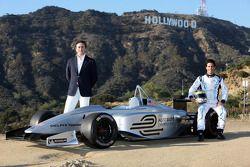 سائق التجارب لوكاس دي غراسي،أليخاندرو عجاج، رئيس الفورمولا إي،عرض سباق لوس انجيليس للفورمولا إى