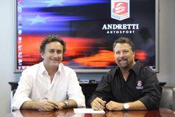 Alejandro Agag, CEO of Formula E Holdings con Michael Andretti, Formula E Andretti Autosport present