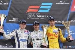 International podium: second place Jordan King, winner Jazeman Jaafar, third place Antonio Giovinazzi