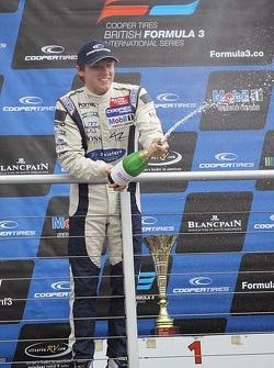 International podium: second place Jordan King