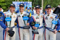 segundo colocado Christian Fittipaldi, Joao Barbosa, terceiro colocado Burt Frisselle, Brian Frissel