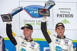 GT podio: segunda posição Jan Magnussen, Antonio Garcia
