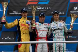 Antonio Giovinazzi, Felipe Lopes Guimares et Jazeman Jaafar