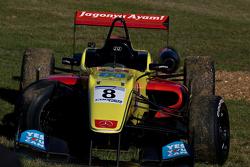 Antonio Giovinazzi wrecked car