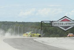 #99 Automatic Racing BMW M3 Coupe: Max Riddle, David Russell wide at Turn 1