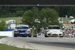 #81 BimmerWorld Racing BMW 328i: Tyler Cooke, Gregory Liefooghe #38 BGB Motorsports Porsche Carrera: