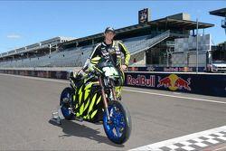 Motocicleta eléctrica piloto Elaine Carpenter
