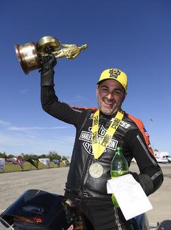 Pro Stock Motorcycle winner Eddie Krawiec