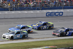 Kyle Larson, Chip Ganassi Racing Chevrolet, Ryan Blaney, Wood Brothers Racing Ford, Chase Elliott, Hendrick Motorsports Chevrolet, and Kasey Kahne, Hendrick Motorsports Chevrolet