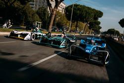 Себастьен Буэми, Renault e.Dams, Нельсон Пике-мл., Jaguar Racing, и Лукас ди Грасси, Audi Sport ABT Schaeffler