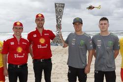 Supercars Enduro Cup, Gold Coast'ta; Fabian Coulthard, Tony D'Alberto, DJR Team Penske ve Cameron Waters, Richie Stanaway, Prodrive Racing Australia
