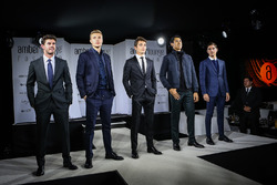 Norman Nato, Sergey Sirotkin, Renault Sport F1 Team Test Driver, Charles Leclerc, Sauber, Sean Gelael, Scuderia Toro Rosso y Alfonso Célis Jr., Amber Lounge Fasion Show