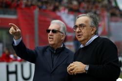 Piero Lardi Ferrari, vicepresidente de Ferrari y Sergio Marchionne, CEO FIAT
