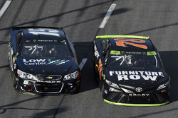 Martin Truex Jr., Furniture Row Racing Toyota, Reed Sorenson, Premium Motorsports Chevrolet