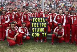 Het Ferrari-team heeft een boodschap voor Felipe Massa