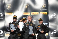 Podium Europe AM: first place Andrej Lewandowski, Teodor Myszkowski, VS Racing, second place Raffaele Giannoni, Automobile Tricolore, third place Massimo Mantovani, Imperiale Racing
