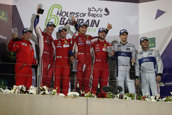 Podium LMGTE Pro: first place Davide Rigon, Sam Bird, AF Corse, second place James Calado, Alessandro Pier Guidi, AF Corse, third place Andy Priaulx, Harry Tincknell,  Ford Chip Ganassi Team UK