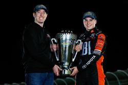 2017 champion Christopher Bell, Kyle Busch Motorsports Toyota, team owner Kyle Busch