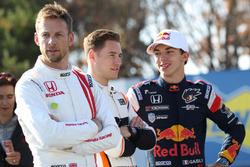 Jenson Button, Stoffel Vandoorne, and Pierre Gasly
