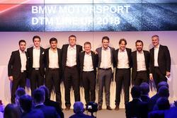 Line-up 2018,  Philipp Eng, Joel Eriksson, Bruno Spengler, Bart Mampaey, Stefan Reinhold, Team Principal BMW Team RMG, Maro Wittmann, Augusto Farfus, Timo Glock, Jens Marquardt, BMW Motorsport Director