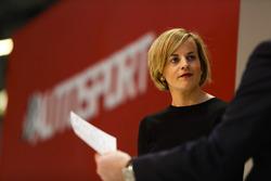 Susie Wolff sur la scène Autosport