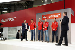 Yves Matton with Citroen WRC drivers Kris Meeke and Craig Breen