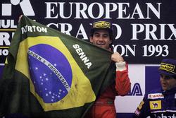Le vainqueur Ayrton Senna, McLaren