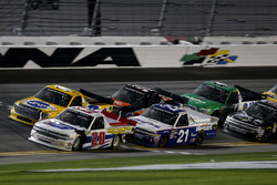 Scott Lagasse Jr., Young's Motorsports Chevrolet Silverado, Johnny Sauter, GMS Racing Chevrolet Silverado, David Gilliland, Kyle Busch Motorsports Toyota Tundra