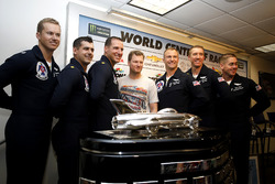 USAF Thunderbirds pilots with Dale Earnhardt Jr.