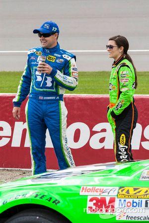 Ricky Stenhouse Jr. en Danica Patrick