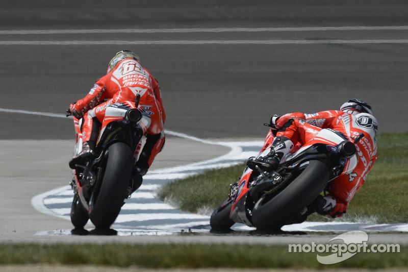 Andrea Dovizioso en Nicky Hayden, Ducati Team