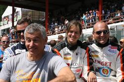 Карим Оджей, Лоран Паскуали, Марлене Брогги и Кристоф де Фирлан. Спа-Франкоршам, суббота, перед гонкой.
