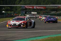 Pace lap; #16 Phoenix Racing Audi R8 LMS Ultra: Enzo Ide, Anthony Kumpen, Markus Winkelhock