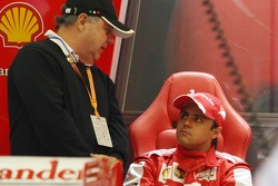 Felipe Massa, Ferrari with his father Luiz Antonio Massa,