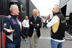 Dr Helmut Marko, Red Bull Motorsport Consultor y Gerard Lopez, Genii Capital,