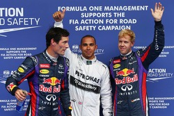 Pole for Lewis Hamilton, Mercedes AMG F1, segundo for Sebastian Vettel, Red Bull Racing e terceiro f