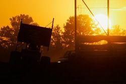 Sonnenuntergang auf der Strecke