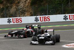 Valtteri Bottas, Williams ve Nico Hulkenberg, Sauber