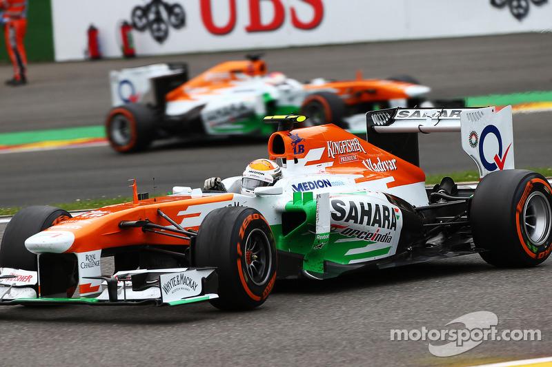 Adrian Sutil, Sahara Force India en Paul di Resta, Sahara Force India
