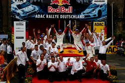 Vencedor Dani Sordo, Carlos del Barrio, Citroen DS3 WRC #3, Citroen Total Abu Dhabi World Rally Team