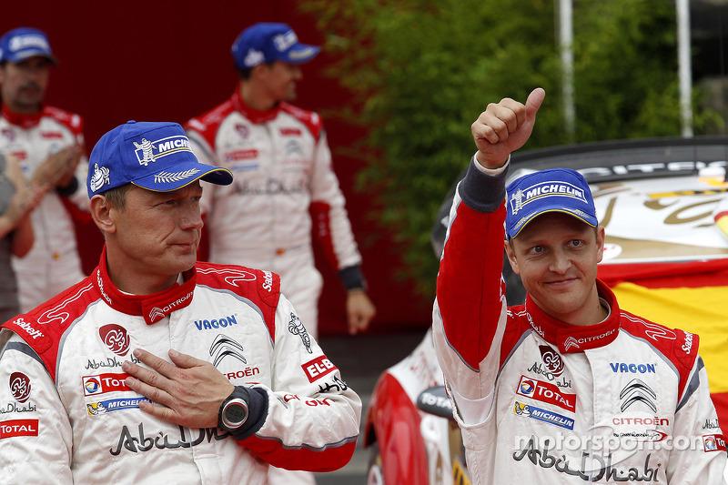 2e plaats Mikko Hirvonen, Jarmo Lehtinen, Citroen DS3 WRC #2, Citroen Total Abu Dhabi World Rally Team