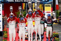 pódio, segundo Mikko Hirvonen, Jarmo Lehtinen, Citroen DS3 WRC #2, Citroen Total Abu Dhabi World Ral