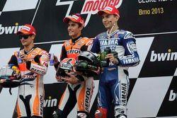 Podyum: 1. Marc Marquez; 2. Dani Pedrosa; 3. Jorge Lorenzo