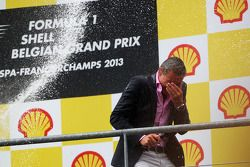 David Coulthard, Red Bull Racing and Scuderia Toro Advisor / BBC Television Commentator gets a champ