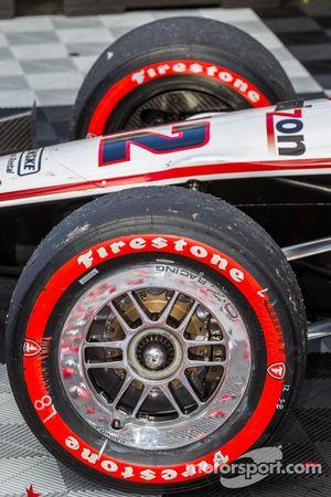Les pneus du vainqueur Will Power sont usés
