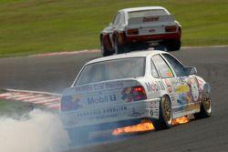 Kelvin Fletcher, Vauxhall Cavalier vliegt in brand