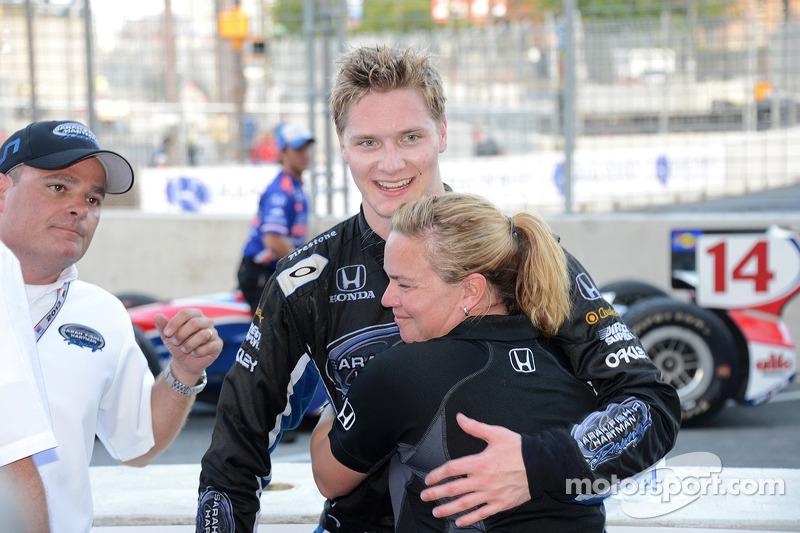 2013: первый подиум в IndyCar