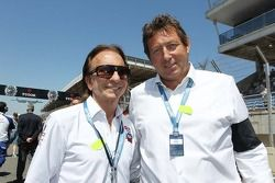 Emerson Fittipaldi, met Gerard Neveu, WEC CEO op de grid